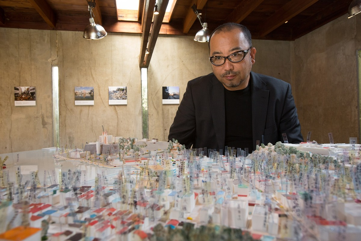Prof. Hitoshi Abe - UCLA A.UD for UCOMM Groundswell: Guerrilla Architecture In Response To The Great East Japan Earthquake MAK Center/Schindler House - West Hollywood, CA. 141106