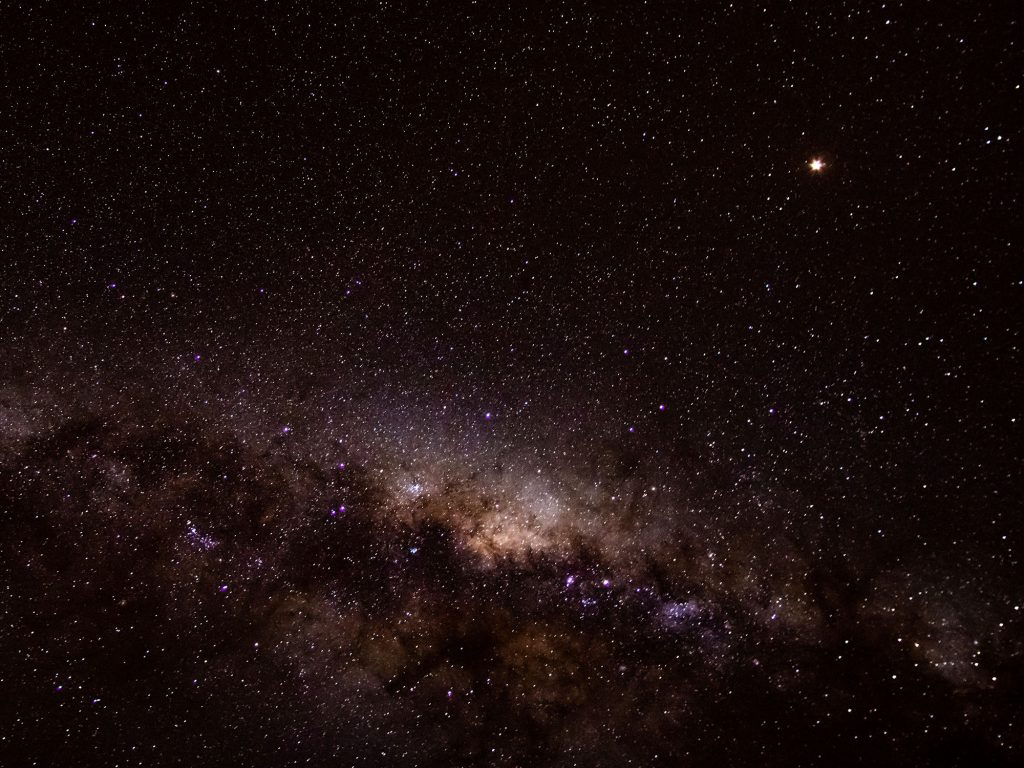 Image of the night sky over Camiña, Chile, by Meghan Gill
