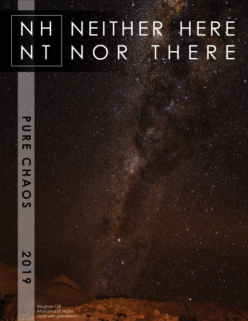 Cover image for Neither Here Nor There 2019 Issue: Pure Chaos