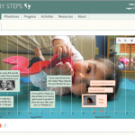 Screen shot of timeline from Baby Steps web portal