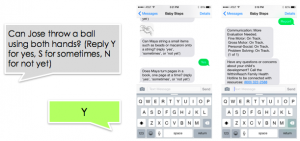 Baby Steps text messaging