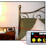 BuddyClock on a bedside table