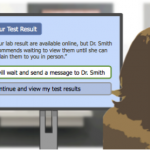 Example messaging for sharing a test result