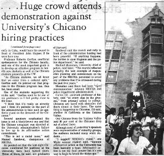 chicano movement thesis Essays related to chicano movement 1 were also motivated by the high minority death toll in the vietnam war and the ongoing civil rights campaigns of the chicano movement the chicano student movement was the part of the mexican american civil rights movement that focused on educational.