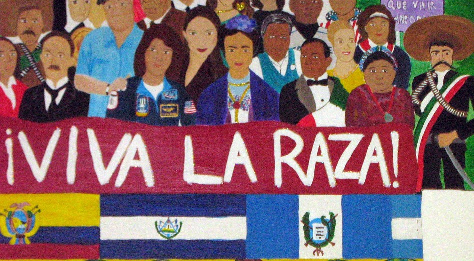 La raza in across the mountains for Chicano mural movement