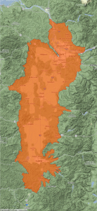 Willamette Valley Case Study area map