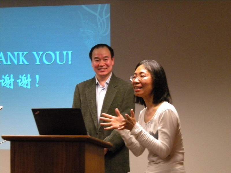 Charlene Chou, Head of Technical Services at EAL, gives a warm thank-you to Prof. Yao and to everyone for coming