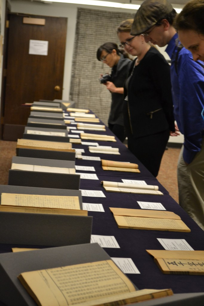 After the presentations, everyone was invited to tour the display of some of the discovered treasures.