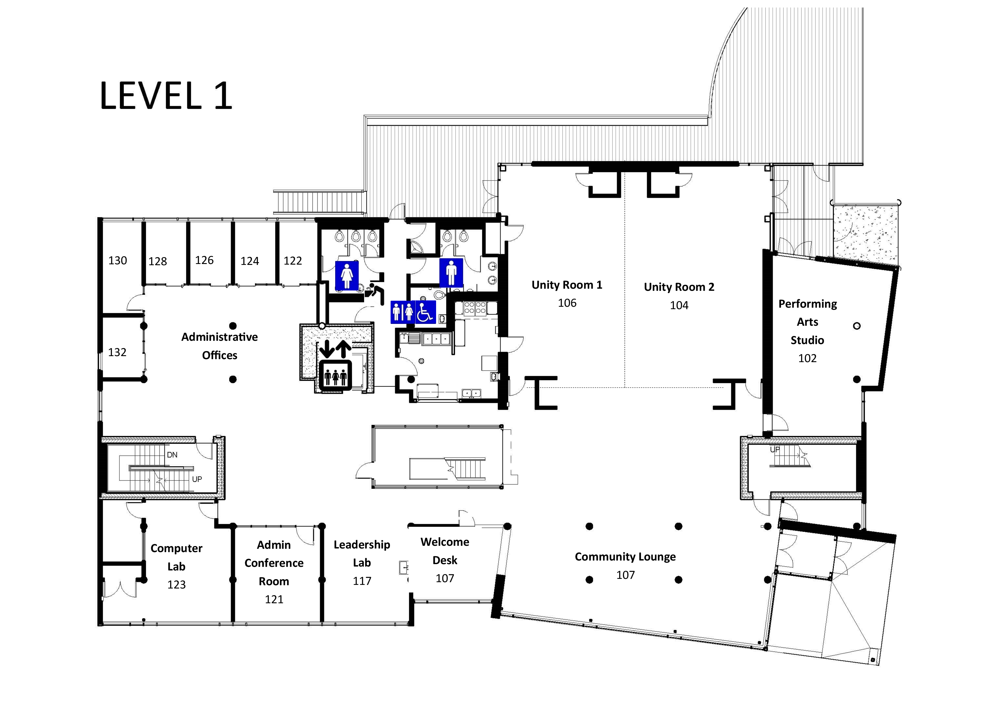 Floor plans and room layouts and capacity samuel e for Floor plan layout