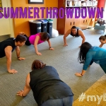 Working on our fitness...Keeping each other accountable for @wholeu #summerthrowdown challenge! #UW #myECC