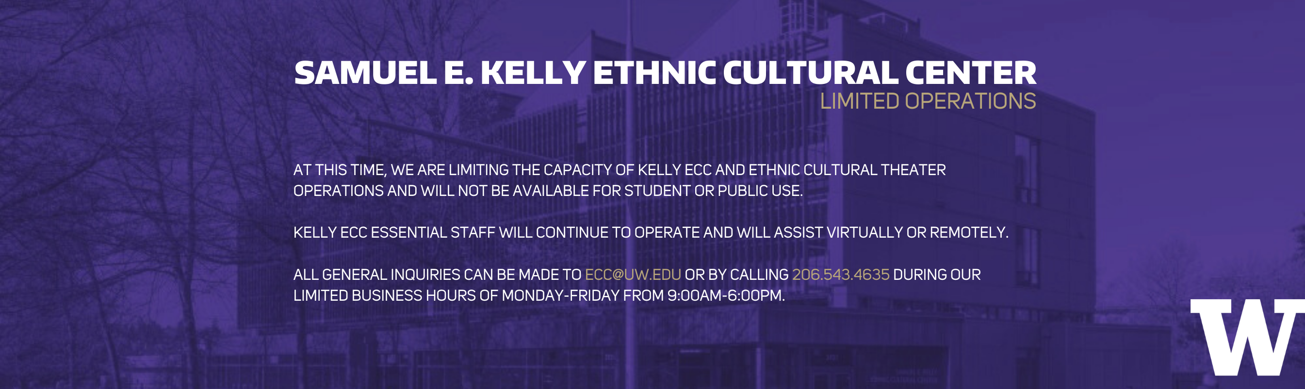 Kelly ECC public closure announcement