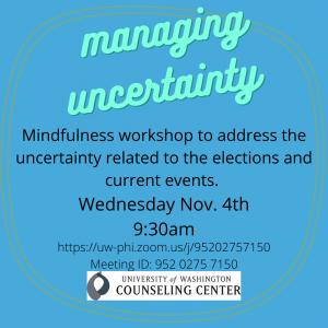 Managing Uncertainty @ Zoom