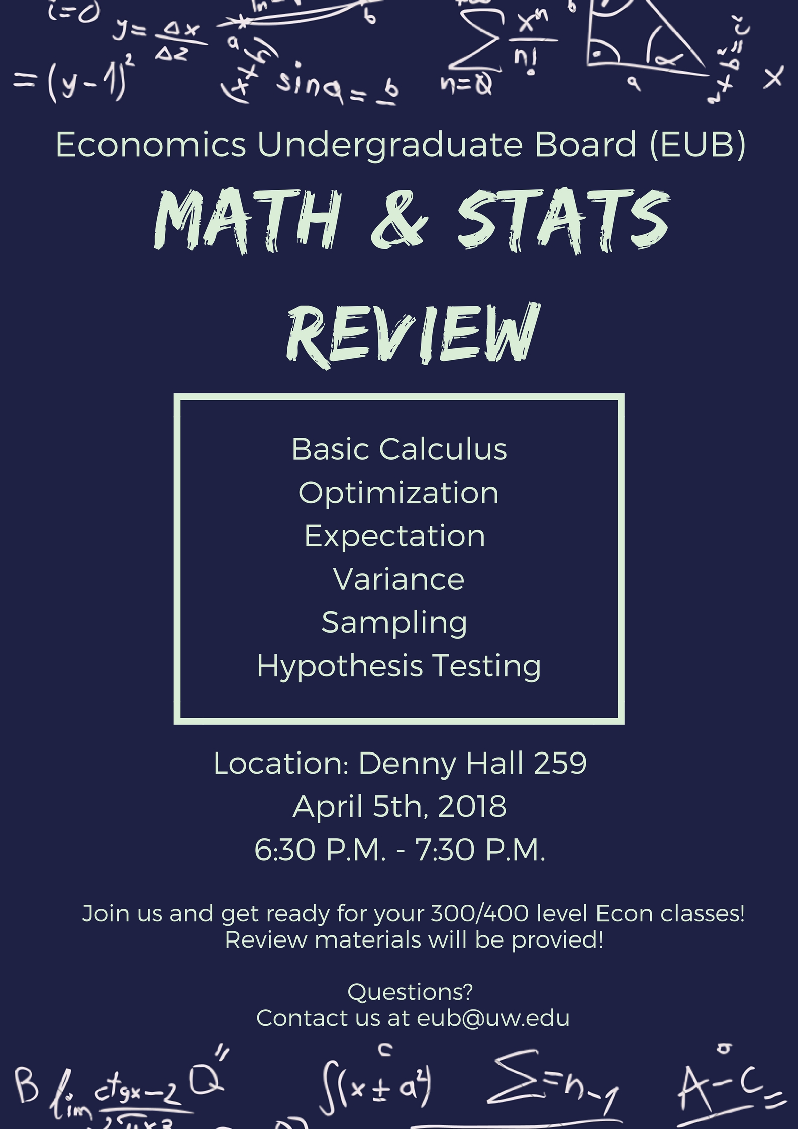 EUB Math and Stats Review_Spring 2018_V2