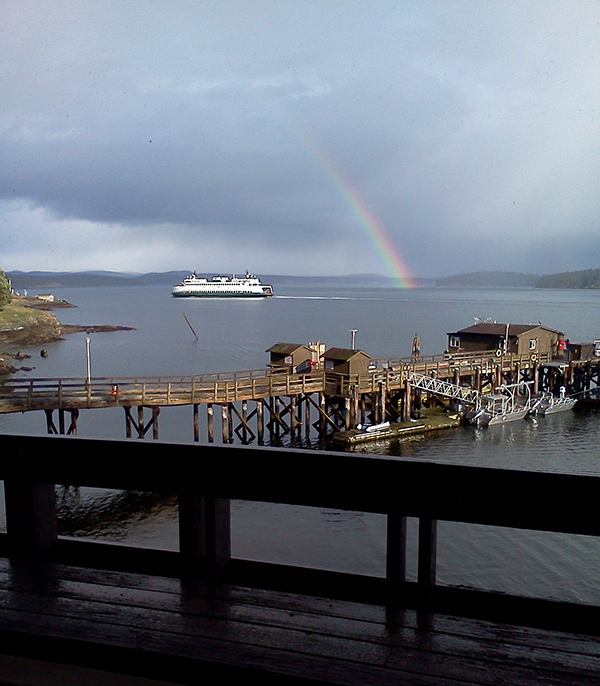 Rainbow over Friday Harbor