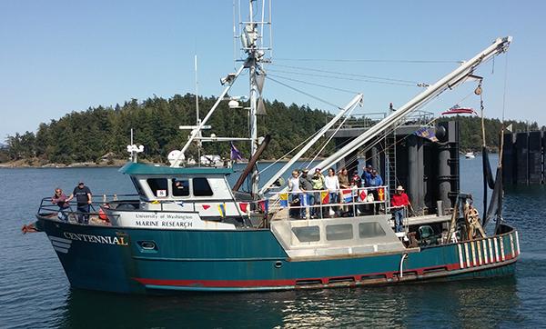 R/V Centennial during boat parade