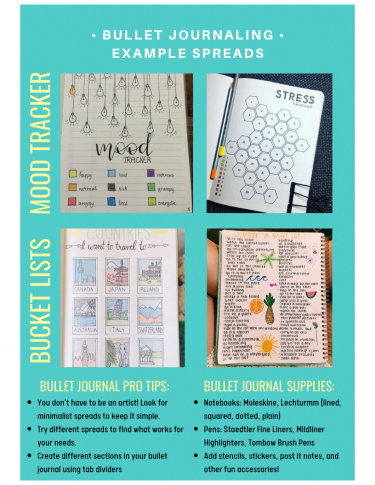 Bullet Journal Examples - Mood Trackers & Bucket Lists