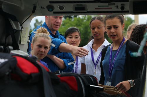 INSIGHT interns get an inside look at an Airlift Northwest helicopter.