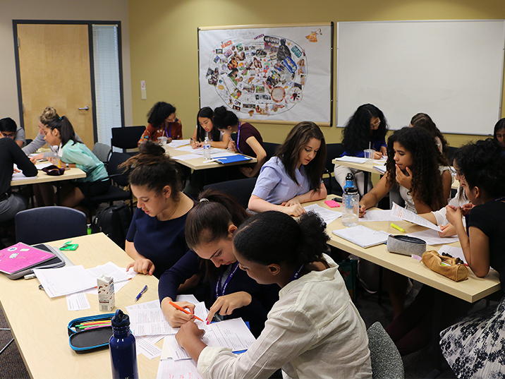 Hands-on activities include group challenges around public health and epidemiology for INSIGHT high school students.
