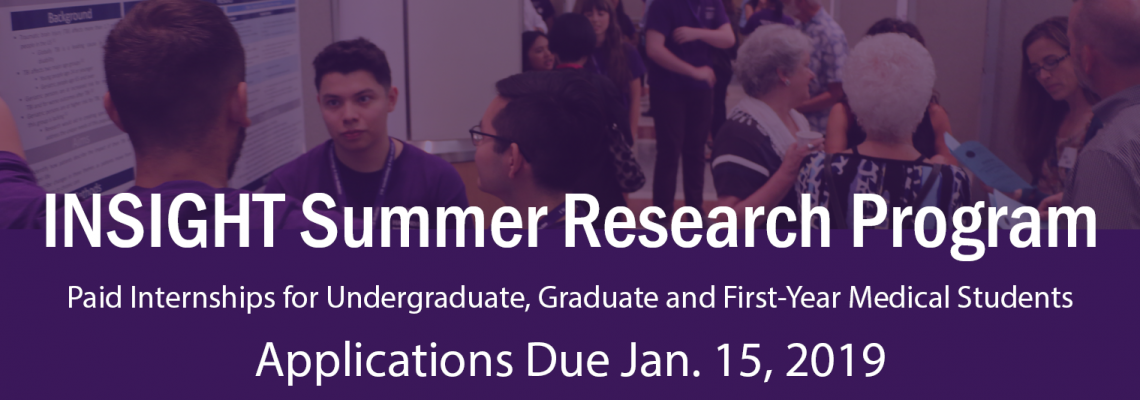 2019 INSIGHT summer internship opens for applications