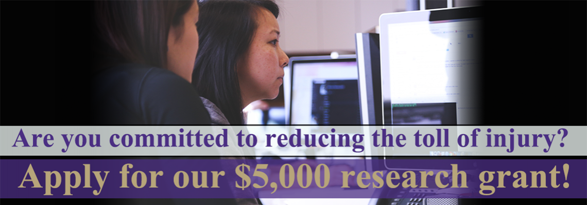 UW Faculty – Apply for $5,000 of Support & Expert Guidance for Your Injury Project
