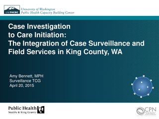 Case Investigation to Care Initiation