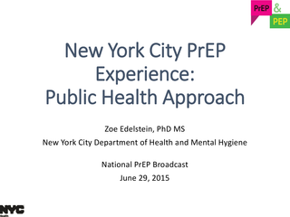 New York City PrEP Experience
