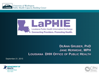 Louisiana Public Health Information Exchange