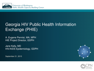 Georgia HIV Public Health Information Exchange (PHIE)