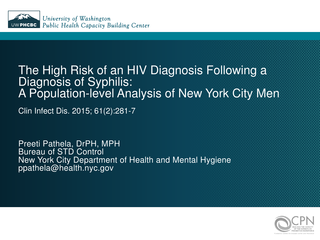 The High Risk of an HIV Diagnosis Following a Diagnosis of Syphilis