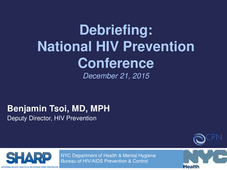 Debriefing:National HIV Prevention Conference
