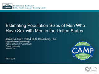 Estimating Population Sizes of Men Who Have Sex with Men in the United States