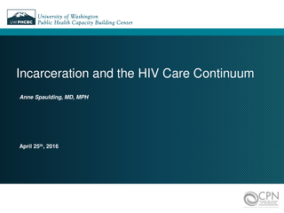 Incarceration and the HIV Care Continuum