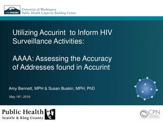 Utilizing Accurint to Inform HIV Surveillance Activities