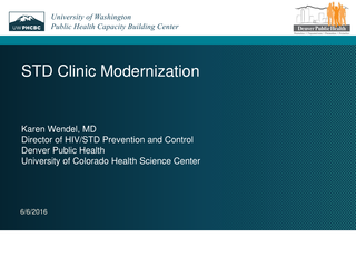 STD Clinic Modernization