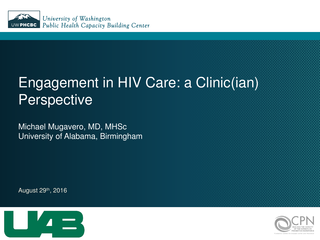 Engagement in HIV Care: a Clinic(ian) Perspective
