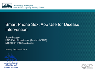 Smart Phone Sex - App Use for Disease Intervention