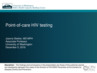 Point-of-care HIV testing