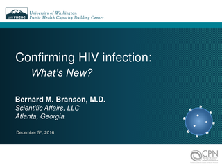 Confirming HIV infection: What's New?