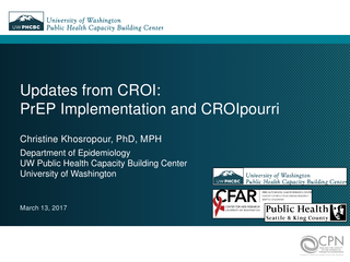 Updates from CROI 2017: PrEP Implementation and CROIpourri