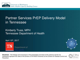 Partner Services PrEP Delivery Model in Tennessee