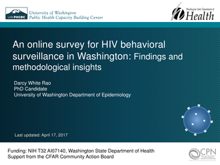 An online survey for HIV behavioral surveillance in Washington: Findings and methodological insights