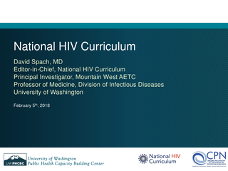 National HIV Curriculum