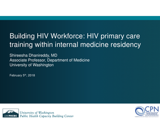 Building HIV Workforce: HIV primary care training within internal medicine residency