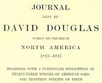 title page Journal kept by David Douglas