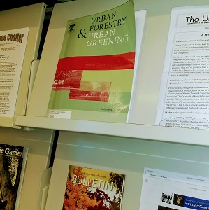 periodicals shelving featuring Urban Forestry & Urban Greening