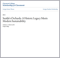 Seattle's orchards book jacket