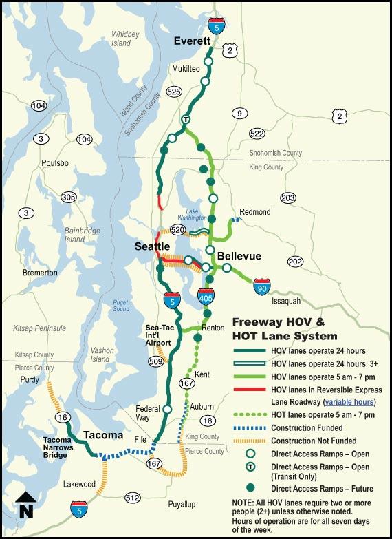Puget Sound Freeway and HOV Performance Statistics