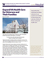 photo: Policy Brief August 2019 - Expand VA Health Care