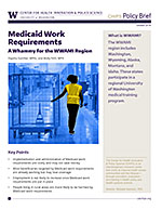 photo: Policy Brief October 2019 - Medicaid Work Requirements