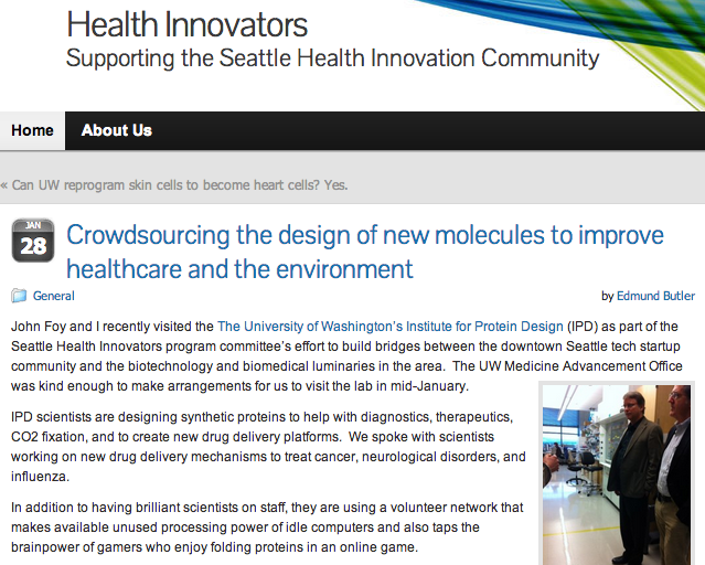 Seattle Health Innovators Visit the IPD